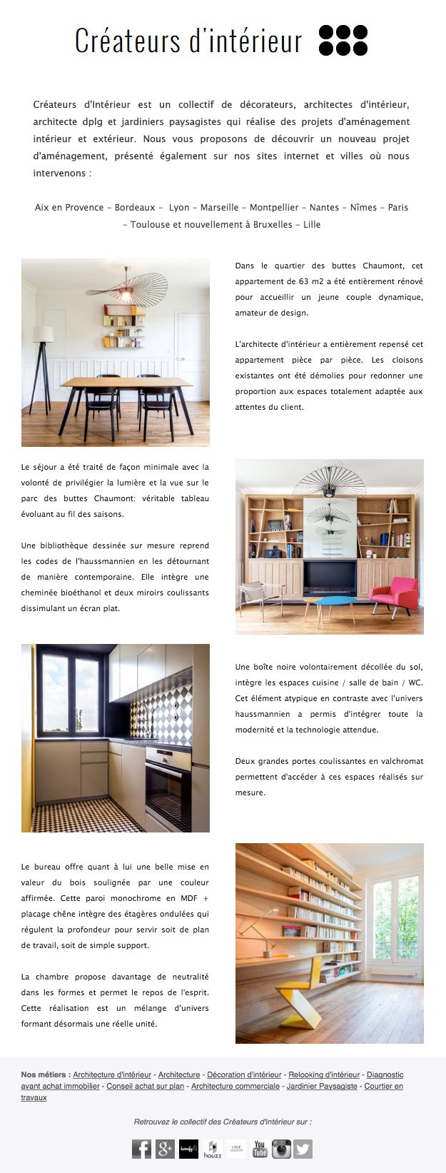 Les magazines de d coration voquent les r alisations d 39 un for Magazine decoration interieur