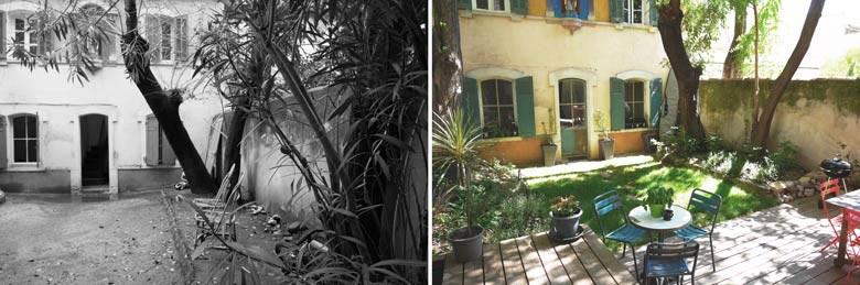 Am nagement d 39 un jardin d 39 une maison de ville par un for Jardinier paysagiste nantes