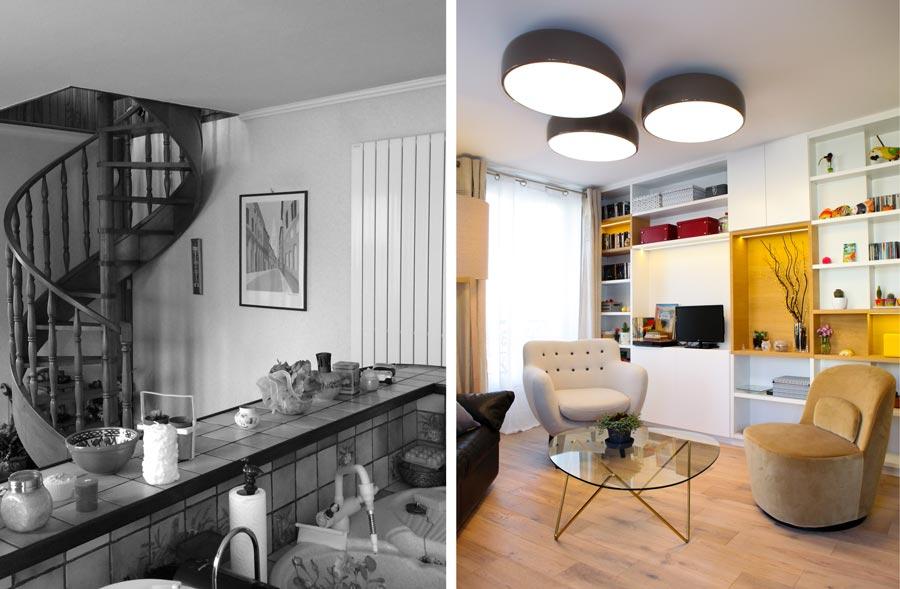 Avant - Après : Rénovation d\'un appartement 2 pièces de 50m2