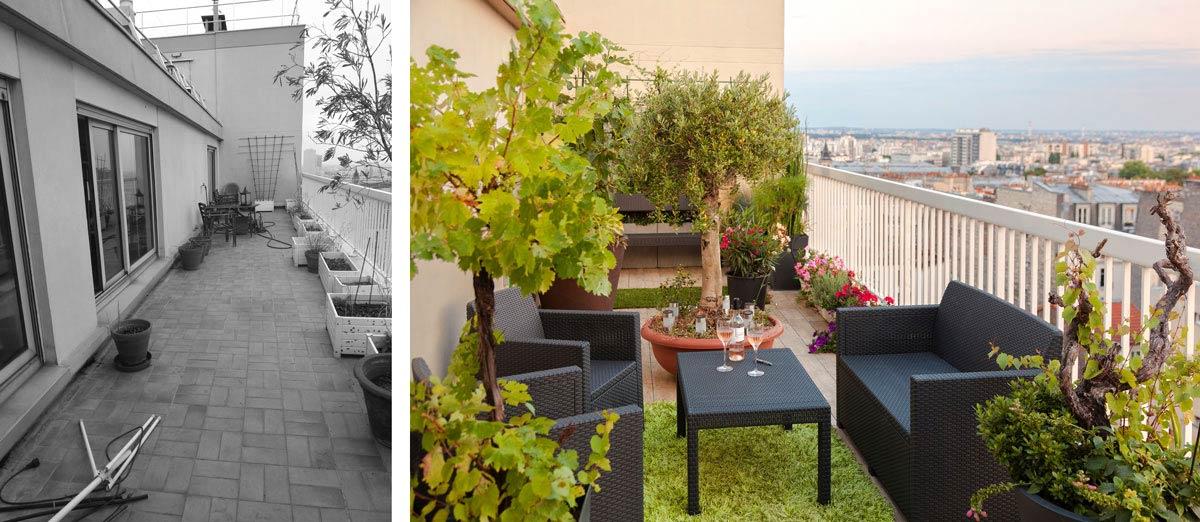 Avant apr s architecture d 39 int rieur d 39 un 4 pi ces de for Tarif jardinier paysagiste