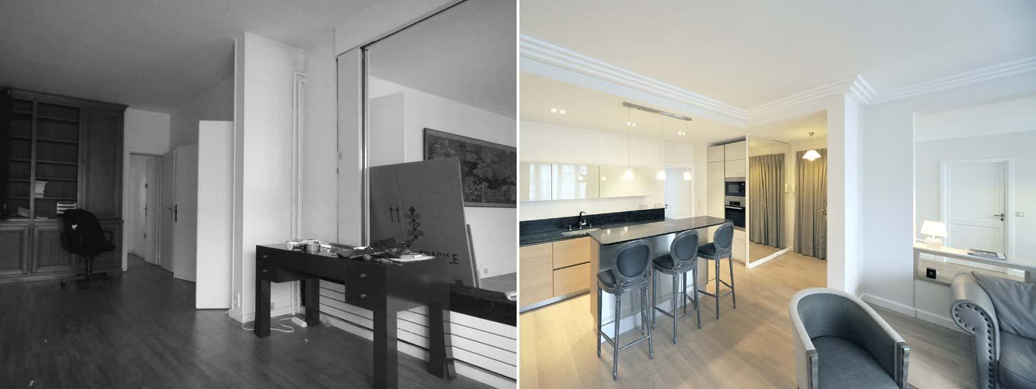 Un architecte d'intérieur aménage un ancien bureau en appartement d'habitation rville.