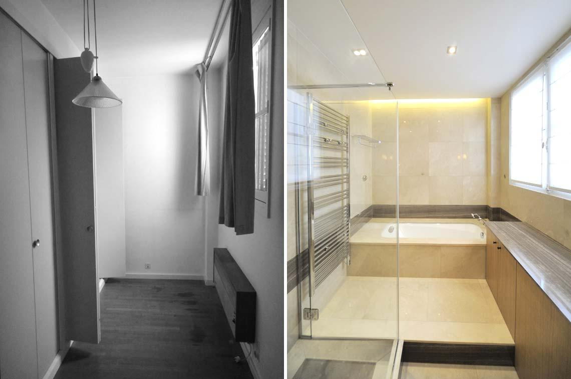 Un dressing est reconverti en salle de bain par un architecte d'intérieur
