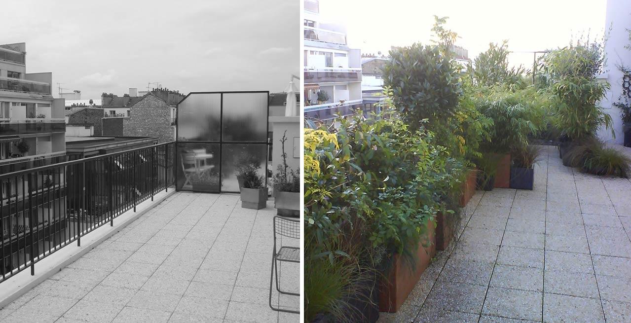 Am nagement d 39 une terrasse nantes for Jardinier paysagiste nantes