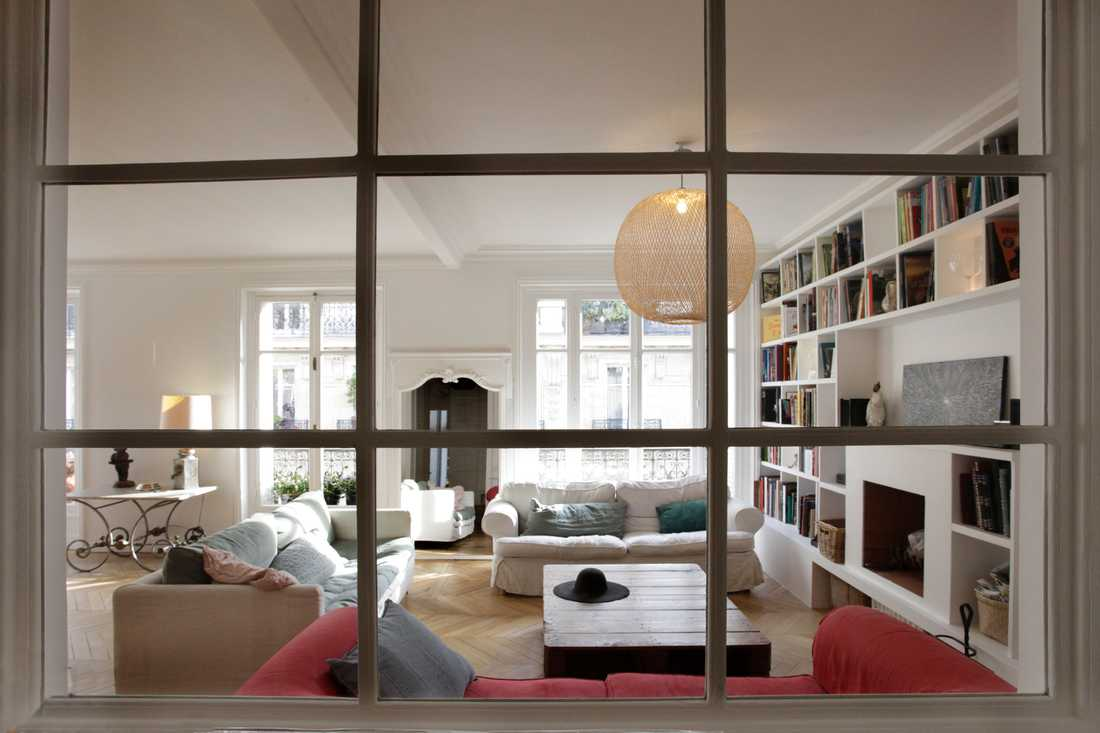 Rénovation d'un appartement haussmannien par architecte d'interieur à Nantes